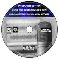 Musikproduktion Studio Audio Videobearbeitung Mixing Recording Software PC CD +