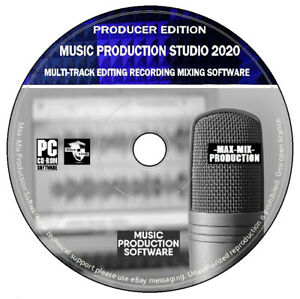 Music Production Studio Audio Video Editing Mixing Recording Software PC CD +