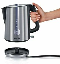 Philips 1.7L 3000W HD4761 One Cup Indicator Silver Spring Lid Kettle