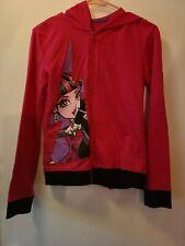 Monster High Dolls Girls Hoodie Size XL Pink Black Zip Up Draculaura Jacket