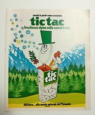 Pubblicità 1972 TIC TAC CARAMELLE SWEET advertising werbung publicité reklame