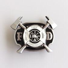 New Enamel Firefighter FD Cross Belt Buckle Gurtelschnalle also Stock in US