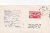 United States 1949 1st Flight Omaha to Minneapolis Air Mail FDC Used VGC D