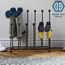 Wrought Iron Welly Boot Rack Stand 6 Pairs Shoe Holder Wellies Free Delivery