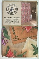 Island Getaway Tropical Shower Curtain Caribbean Joe Textured Fabric Floral