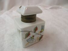 Antique porcelain hand painted Inkwell