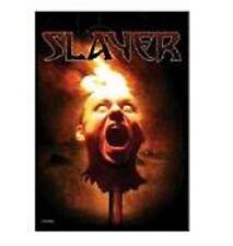 SLAYER - Burning Head - Flagge Posterfahne Textilposter Flag - Neu #920155