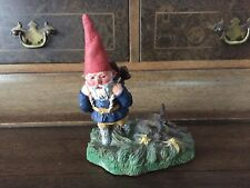 """Cute Collectable 6"""" Gnome Figurine Carrying Basket Of Wood Perfect"""