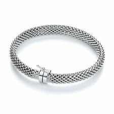 Sterling Silver Mesh Bangle