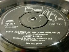 "JIMMY RUFFIN, WHAT BECOMES OF THE BROKEN HEARTED ,7"" VINYL"