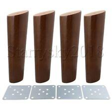 4pcs Oak Wooden Furniture Legs Feets 18cm Height for Sofa TV Cabinet Tea Table