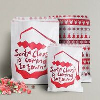 Candy Christmas Santa Xmas Paper Sweet Gift Shop Party bags Birthday 5x7""
