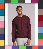 Gildan Mens Plain Solid Heavy Blend Cotton Crewneck Sweatshirt S-5XL G180