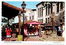 Colorful Olvera Street Los Angeles Postcard California Old Mexico Recreated Vtg