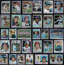 1978 Topps Baseball Cards Complete Your Set U You Pick From List 1-249