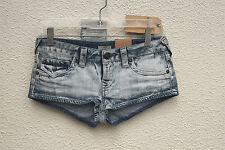 NWT TRUE RELIGION JOEY CUT OFF Size 24/25 Booty Cut Hot Mini Denim Short Shorts