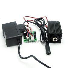 405nm 50mw Bule/Violet Focusable Dot Laser Diode Module Driver TTL +12V Adapter