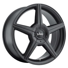 4-NEW Vision 168 Autobahn 16x7 5x105/5x115 +40mm Matte Black Wheels Rims