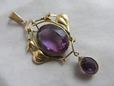 Guilloche enamel diamond pearl gold pendant earrings antique Victorian. tbj02425