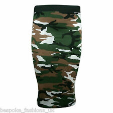 New Women's Camouflage Army Print Leggings,Vest Top & Cap Sleeve Midi Size SM ML