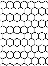 Darice Embossing Folder ~ Honeycomb ~ Xl 5 X 7 Deep Impression Dime Shapes
