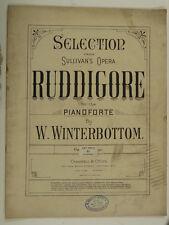piano selection RUDDIGORE gilbert & sullivan , arr w winterbottom
