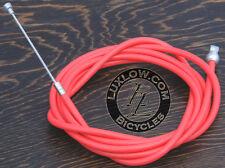 Orange Brake Cable Kit Housing Button Fixie Bicycle BMX MTB Cruiser Bike Brakes