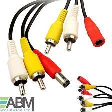 15m CCTV seguridad cámara plomo Av Audio Video Rca Cable De Extensión Phono DVR de energía