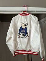 Vintage Budweiser Bud Light Spuds MacKenzie Satin Jacket NOS LARGE STITCHED