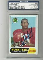 1968 Topps Football  Bobby Bell HOF Autograph Certified by PSA/DNA as Authentic