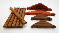 Lincoln Logs 10 Assorted Wood Pieces