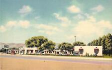 PUEBLO BONITO COURT Albuquerque, NM Route 66 Roadside ca 1940s Vintage Postcard