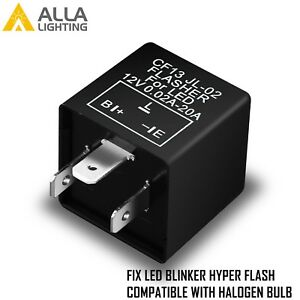 Alla Lighting Turn Signal Hazard LED Flasher Relay CF13 3Pin,No Fast Hyper-flash