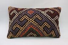 """Kilim Lumbar Pillow Cover, 12""""x20"""", Decorative Pillow, Vintage Throw Pillow"""