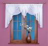 Beau festonné Blanc Voile Rideau Filet Fenêtre Maison Décorations prêt à porter
