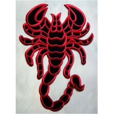 Big Huge Red Black Scorpion Racing Biker Embroidered Iron on Patch Free Shipping
