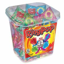 Ring Pop Candy Jar Assorted Flavors 44 ct - Finger Lollipop Candy