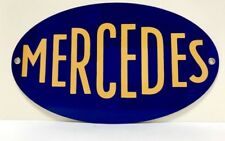 Mercedes Benz Early 1900's Vintage Logo Reproduction Garage Sign