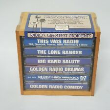The Best Of Old Time Radio Greatest Moments Cassette Set with Wood Crate Sealed