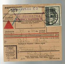 1943 Poland Warsaw to Radom parcel Post REceipt Cover W Bernacka Stefan Majda