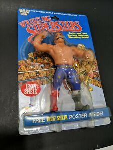WWF LJN WRESTLING SUPERSTARS IRON SHEIK WWE FIGURE Vintage read description