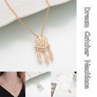 Fashion Dream-catcher Pendant Necklace Alloy Chain Feather Choker Jewelry Gift