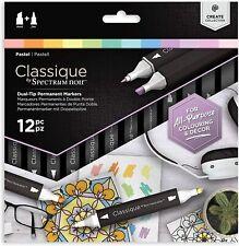 Spectrum Noir Classique - Dual Tip Permanent Markers - 12pc - (PASTELL)