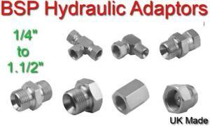 Hydraulic Fittings BSPP Male Female BSP Elbow Straight Tee Swivel Fixed Adaptor