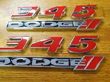 DODGE CHALLENGER CHARGER MAGNUM JEEP CHRYSLER 345 DODGE 5.7L EMBLEMS SET RED NEW