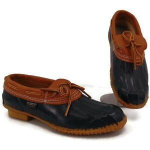 Sporto Low Duck Shoes Blue Rubber Leather 8 Womens Vintage 90s Original