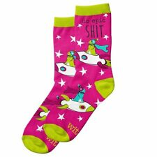 Wit Gifts Socks - Womens Crew - Do Epic S**t - One Size Fits Most - Pink