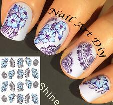 Nail Art Water Transfer Stickers-Decals-Adesivi per Unghie Fiori-Pizzo-Manicure!