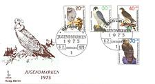 1973 WEST BERLIN Germany Youth FDC Jugend Ersttagsbrief COMPLETE STAMP SET