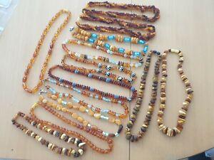Konvolut Schmuck 13 x Bernsteinketten 442 Gramm Amber Necklace Butterscotch